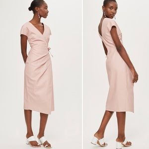 Topshop // PU Midi Length Wrap Dress